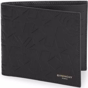 Givenchy Star Motif Leather Bi-Fold Wallet